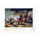 Los guardias de caballo en la batalla de Waterloo, Tarjeta Postal