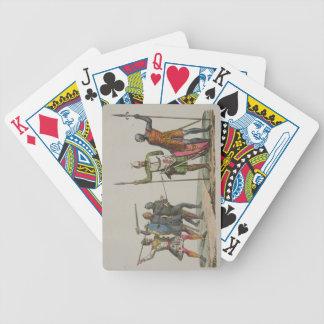 Los guerreros anglosajones, platean 14 'de la hist cartas de juego