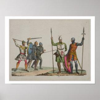 Los guerreros anglosajones, platean 14 'de la hist poster