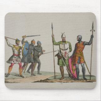 Los guerreros anglosajones, platean 14 'de la hist tapete de ratones