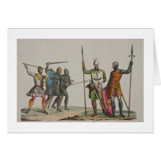 Los guerreros anglosajones, platean 14 'de la hist tarjeton