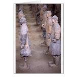 Los guerreros del ejército de la terracota en Xian Felicitaciones