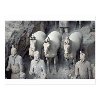 Los guerreros del ejército de la terracota tarjetas postales