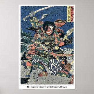 Los guerreros del samurai por Katsukawa, Shuntei Posters