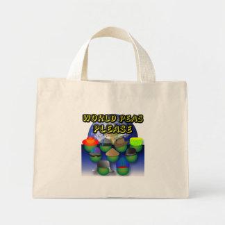 Los guisantes del mundo satisfacen empaquetan bolsa tela pequeña