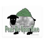 Los guisantes estén sobre oveja postal