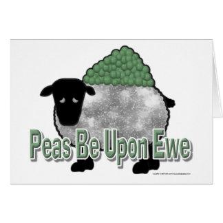 Los guisantes estén sobre oveja felicitaciones