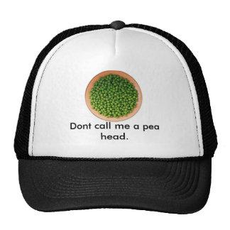 los guisantes, no me llaman una cabeza del guisant gorras de camionero
