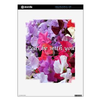 Los guisantes sean con usted guisantes de olor calcomanía para el iPad 2
