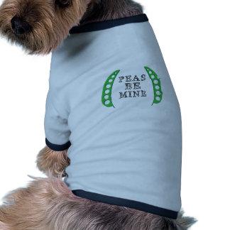 Los guisantes sean los míos camiseta de perro