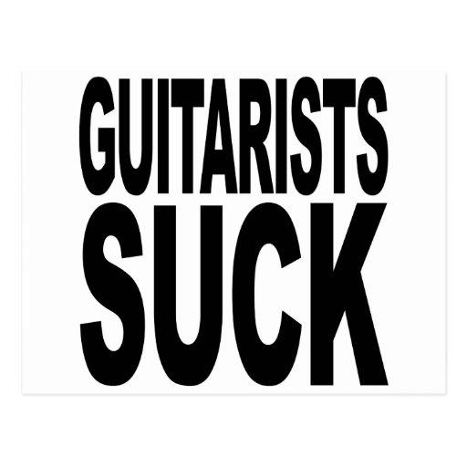 Los guitarristas chupan tarjeta postal