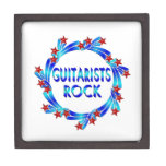 Los guitarristas oscilan las estrellas rojas cajas de recuerdo de calidad