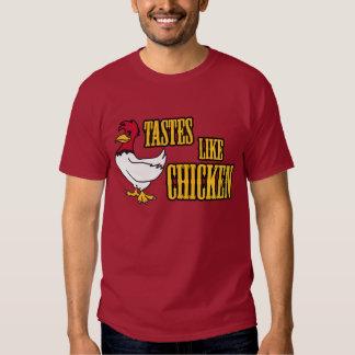 Los gustos tienen gusto de la camiseta del pollo poleras