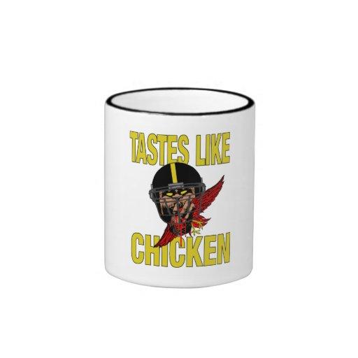 Los gustos tienen gusto de la taza del pollo