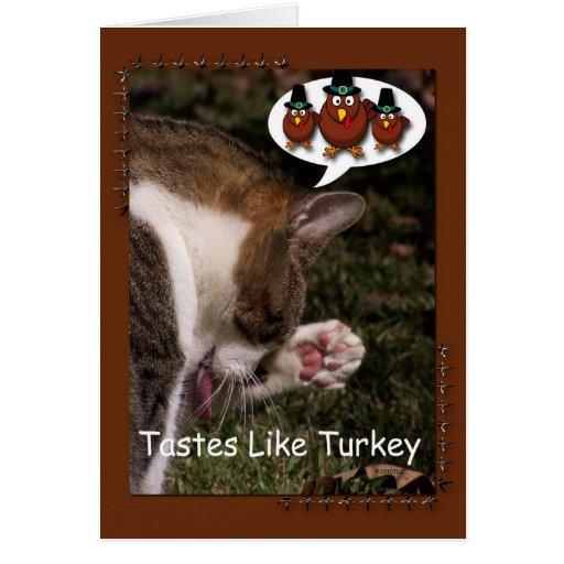 Los gustos tienen gusto de Turquía Tarjeta De Felicitación