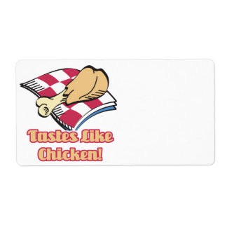los gustos tienen gusto del pollo etiqueta de envío