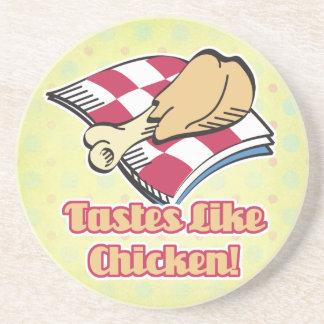 los gustos tienen gusto del pollo posavasos para bebidas