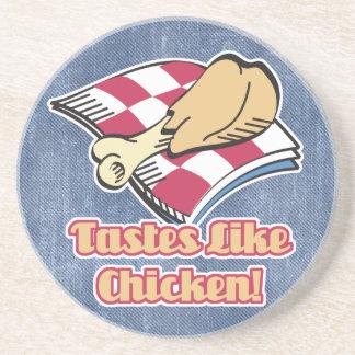 los gustos tienen gusto del pollo posavasos de arenisca