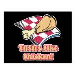 los gustos tienen gusto del pollo postal