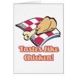 los gustos tienen gusto del pollo tarjeton