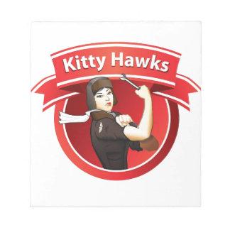Los halcones del gatito bloc de papel