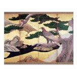 Los halcones en los pinos, 6 artesonan la pantalla postales