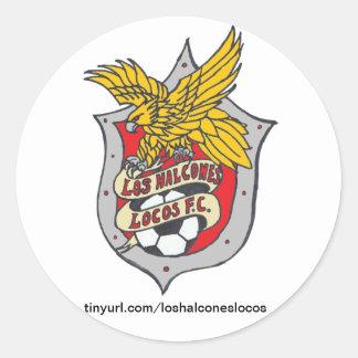 Los Halcones Locos FC Stickers - Round