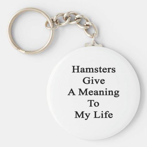 Los hámsteres dan un significado a mi vida llaveros personalizados