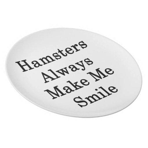 Los hámsteres hacen siempre que sonríe platos para fiestas