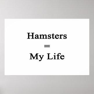 Los hámsteres igualan mi vida poster