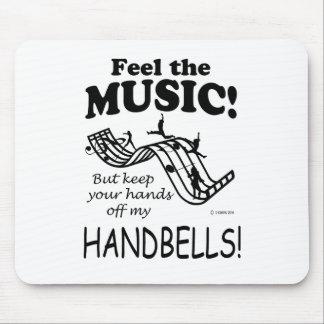 Los Handbells sienten la música Alfombrillas De Raton