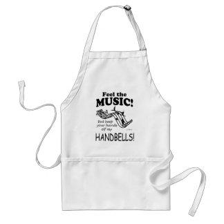 Los Handbells sienten la música Delantal