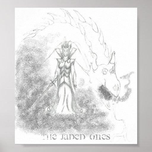 Los hastiados bruja e impresión de la lona del dra posters