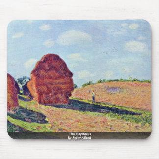 Los Haystacks por Sisley Alfred Tapete De Raton