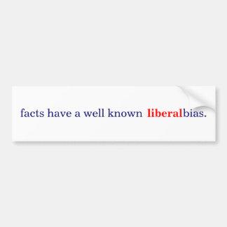 los hechos tienen un prejuicio liberal bien conoci etiqueta de parachoque