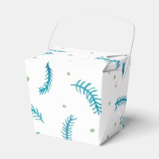 Los helechos pintados sacan la caja del favor cajas para regalos de boda