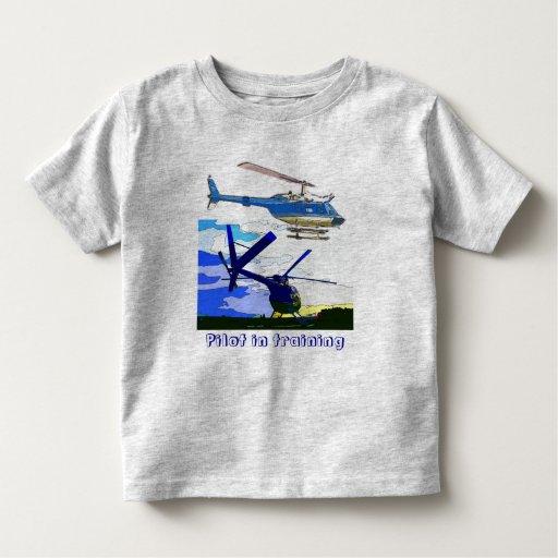 los helicópteros pilotan en el entrenamiento playera de bebé
