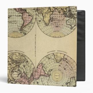 Los hemisferios dan el mapa del atlas coloreado