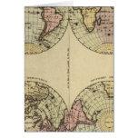 Los hemisferios dan el mapa del atlas coloreado felicitaciones
