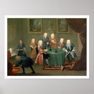 Los hermanos Clarke con otros caballeros que toman Póster