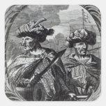 Los hermanos de Barbarossa Pegatina Cuadrada