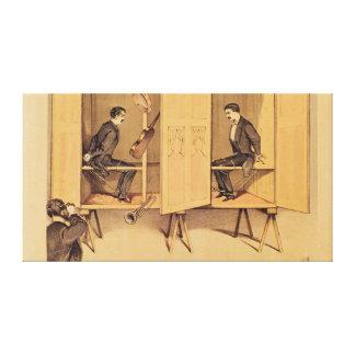 Los hermanos de Davenport, poster para el Seance,  Impresiones En Lienzo Estiradas