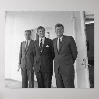 Los hermanos de Kennedy -- Juan, Roberto, y Ted Póster