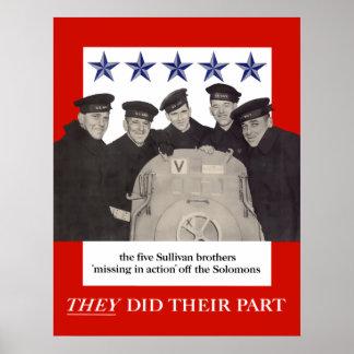 Los hermanos de Sullivan -- Hicieron su parte Póster