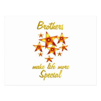 Los hermanos son especiales postales