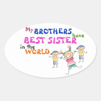 Los hermanos tienen el mejor pegatina de la