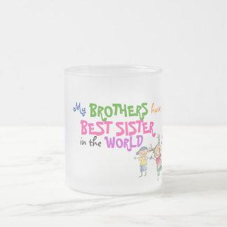 Los hermanos tienen mejor taza de la hermana