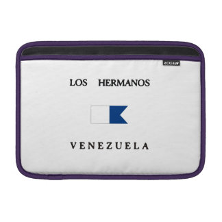 Los Hermanos Venezuela Alpha Dive Flag Sleeve For MacBook Air