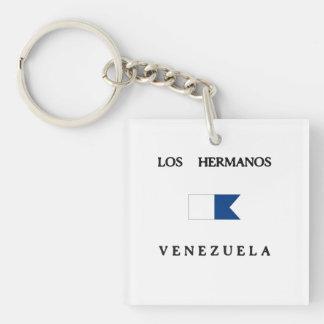Los Hermanos Venezuela Alpha Dive Flag Double-Sided Square Acrylic Keychain