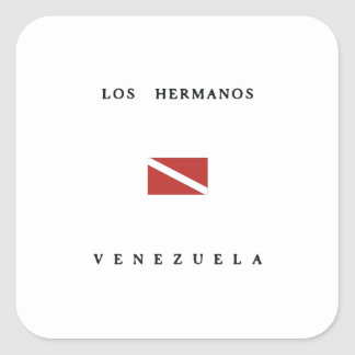 Los Hermanos Venezuela Scuba Dive Flag Square Sticker